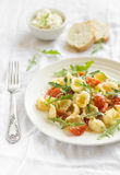 Pasta with cherry tomatoes and Parmesan Stock Images