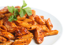 Pasta & Chicken Royalty Free Stock Images