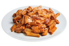 Pasta & Chicken Royalty Free Stock Image