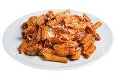 Pasta & Chicken royalty free stock image