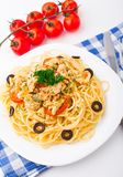 Pasta with chicken brest Stock Image