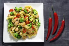 Pasta with chicken Royalty Free Stock Image