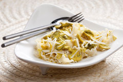 Pasta with chicken meat Royalty Free Stock Images