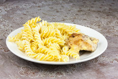 Pasta with chicken Royalty Free Stock Images