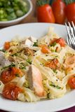 Pasta with chicken and vegetables Royalty Free Stock Photography