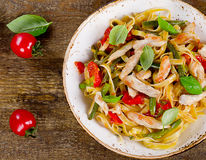 Pasta with chicken Stock Images