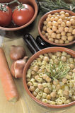 Pasta and chickpeas. Traditional Italian dish Stock Photos