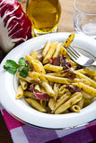 Pasta with chicory Royalty Free Stock Photography