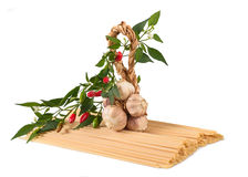 Pasta chili and garlic Royalty Free Stock Images