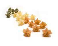 Pasta christmas stars Stock Photography