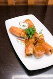 Pasta Chu Chee Kung de Fried Tiger River Prawn Red Curry fotografia de stock royalty free