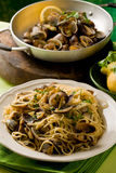 Pasta with Clams Stock Photo