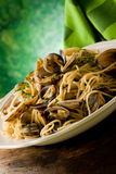 Pasta with Clams Royalty Free Stock Photos