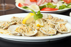 Pasta with Clams Royalty Free Stock Image