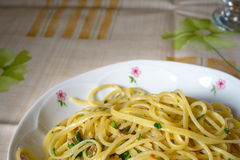 Pasta with clams Royalty Free Stock Photography
