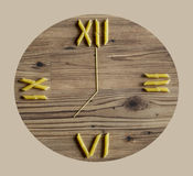 Pasta clock Royalty Free Stock Photo