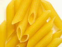 Pasta Close-up. Close-up of dried rigatoni pasta stock photo