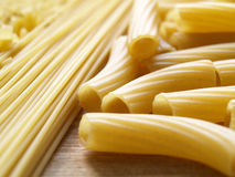 Pasta. Close up pasta on wooden dask Stock Photo