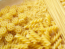 Pasta. Close up pasta on wooden dask Stock Photography