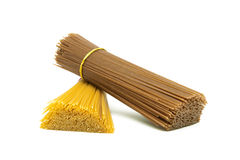 Pasta closeup isolated on white background Stock Photography