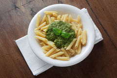 Pasta col pesto Stock Photo