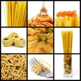 Pasta collage Stock Photos