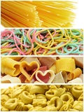 Pasta collage Stock Photo