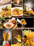 Pasta Collage royalty free stock photography