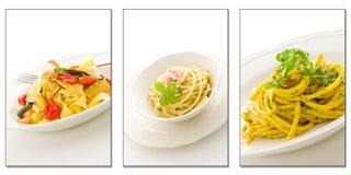 Pasta Collage Royalty Free Stock Photo