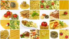 Pasta Collage Stock Photography