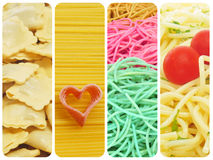 Pasta collage Royalty Free Stock Photos