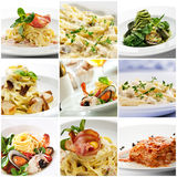 Pasta Collage Stock Images