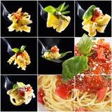 Pasta collage Royalty Free Stock Image