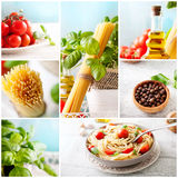 Pasta collage royalty free stock images
