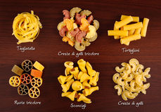 Pasta collection 1. Royalty Free Stock Photo