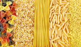 Pasta collection. Set of different kinds of pasta Royalty Free Stock Image