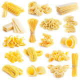 Pasta collection isolated on white Stock Photography