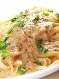 Pasta Collection - Tagliatelle with tuna fish Stock Photos