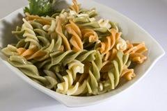 Pasta colorata cucinata Fotografia Stock
