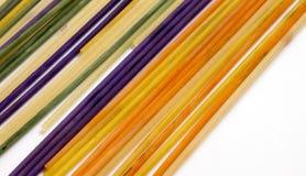 Pasta colorata dipinta nel colore differente Fotografia Stock