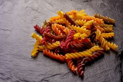 Colored Eco Pasta royalty free stock image