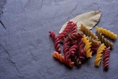 Italian vegetarian pasta Eco Macro. Background stock photography