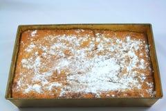 Pasta com pêssegos Fotografia de Stock Royalty Free