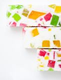 Pasta com partes varicolored do fruto fotos de stock