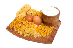 Pasta composition Stock Image