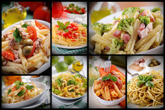 Pasta composition Royalty Free Stock Photos