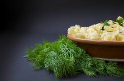 Pasta con aneto verde Fotografia Stock