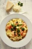 Pasta con gambero. fotografia stock