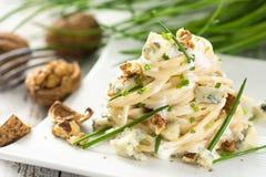 Pasta con gorgonzola Immagine Stock Libera da Diritti