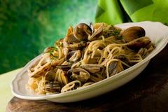 Pasta con i molluschi immagini stock libere da diritti